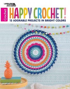 Cover Happy Crochet Leisure Arts Book Review by Rhondda at Oombawka Design Crochet