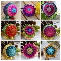 Day 1-9 100DayOfCrochetOrnaments