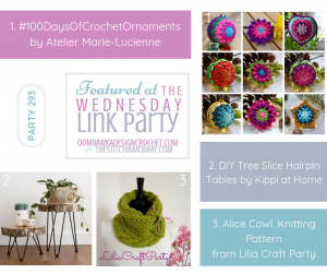 Featured Favorites at Wednesday Link Party 293 with Amy and Rhondda - check out the 100DaysofCrochetOrnaments DIY 2