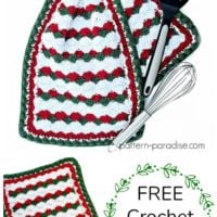 Holiday Helper Dish Towel Pattern