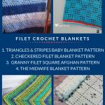 Free Filet Crochet Blanket Patterns • Oombawka Design Crochet