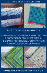 Free Filet Crochet Afghan Patterns Roundup oombawkadesigncrochet
