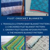 Free Filet Crochet Afghan Patterns Roundup oombawkadesigncrochet