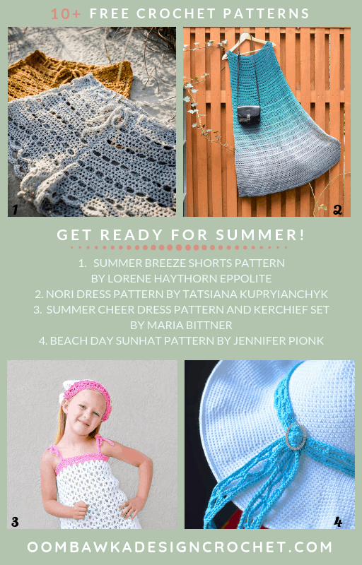 Free Summertime Crochet Patterns Oombawka Design Crochet