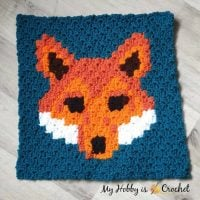 "Free Crochet Pattern: ""Lava Fox"" C2C Square – Wildlife Graphghan CAL – My Hobby is Crochet"