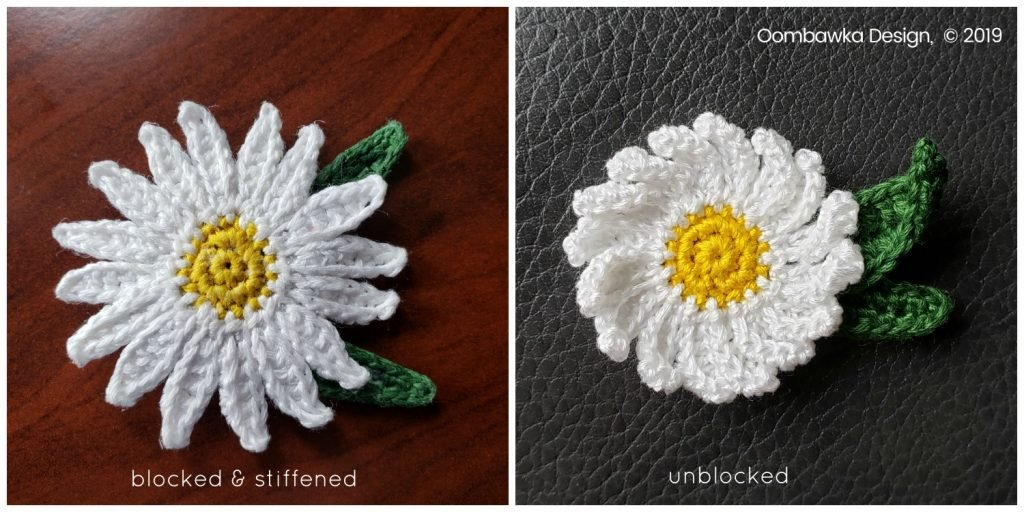 Options Blocked and Stiffened or Unblocked Daisy oombawkadesign