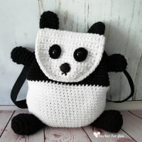 Panda Backpack Pattern by Erangi Udeshika