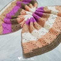 Ribbon Cake Filet Crochet Blanket Pattern