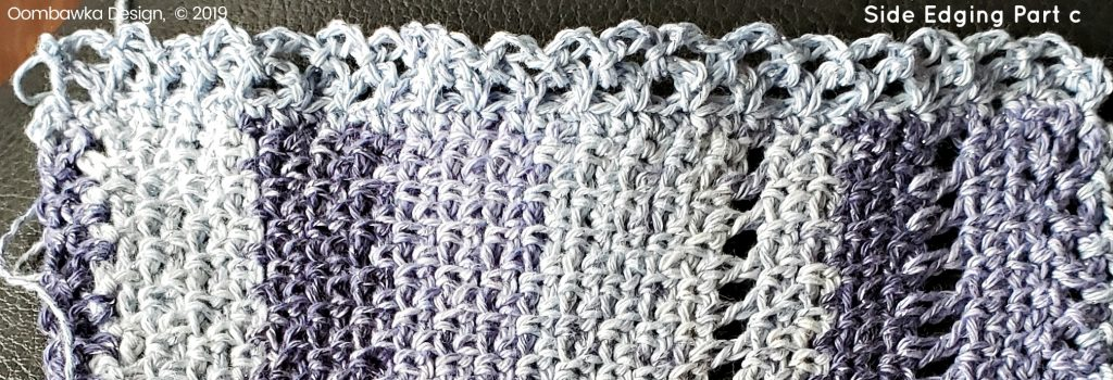 Side Edging Part C Summer Fling Scarflette Pattern oombawkadesigncrochet