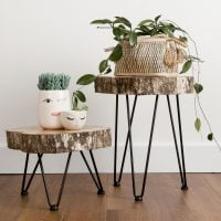 DIY Tree Slice Hairpin Tables by Kippi at Home