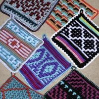 Native American Potholders from ShadyLaneOriginalCrochetDesigns Review and Giveaway at Oombawka Design Crochet