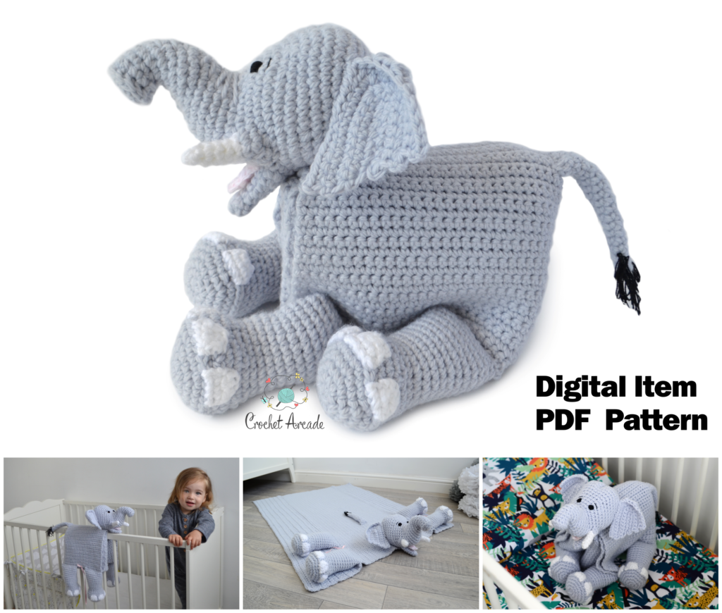 Cuddle and Play Elephant Blanket Pattern Review by Oombawka Design