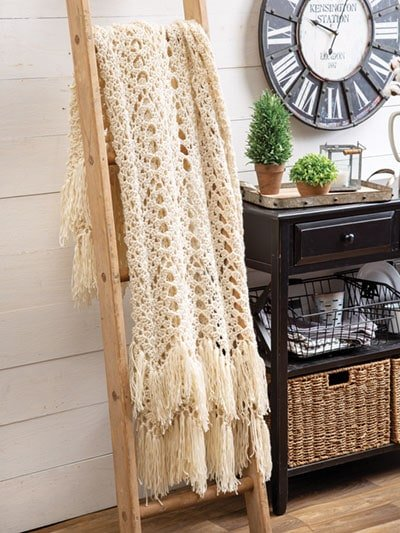 Fringed Throw Crochet Home. Annies Craft Store