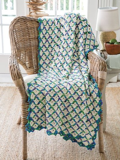 Sand Dunes Throw. Crochet Home. Annies Craft Store