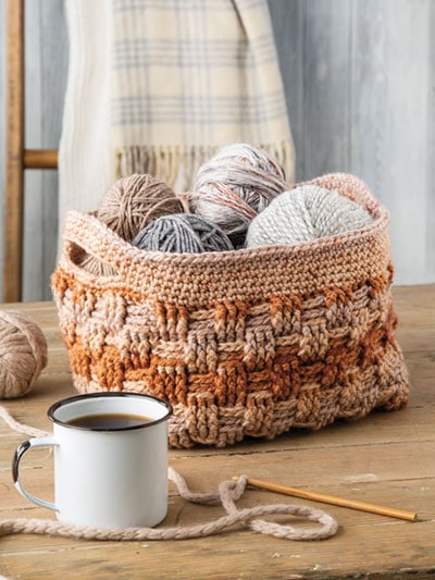 Woven Basket Crochet Home. Annies Craft Store