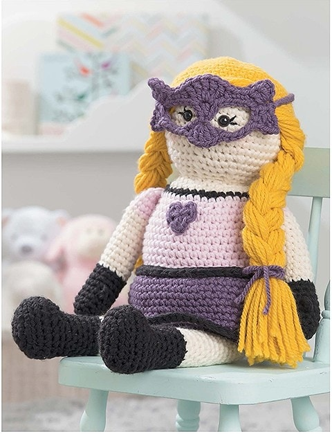 Violet Valiant Heart Huggable Superheros Leisure Arts eBook Review Oombawka Design Crochet