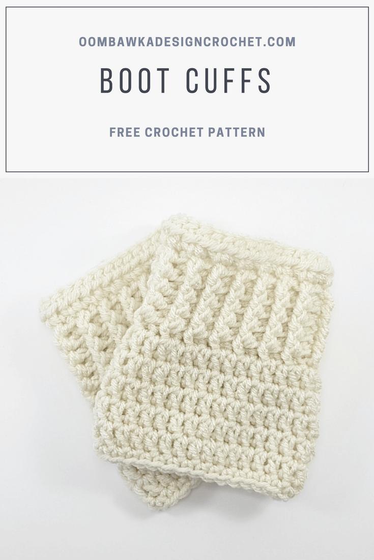 Boot Cuffs Pattern. Free Pattern. Oombawka Design Crochet PIN