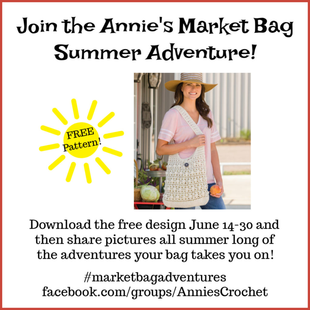 Crochet Market Bag Promo #marketbagadventures
