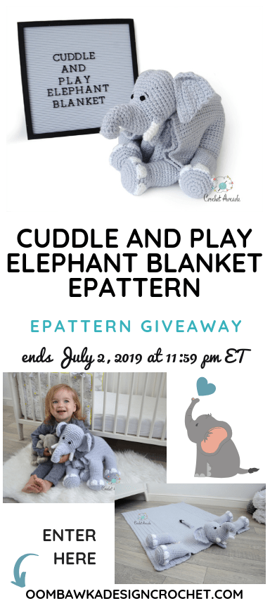 Cuddle and Play Elephant Baby Blanket pattern by Aneta Izabela ... | 864x384