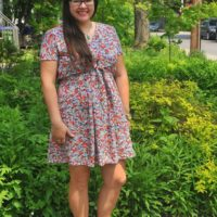 DIY: McCall's M738a Pullover Dress with Front Tie