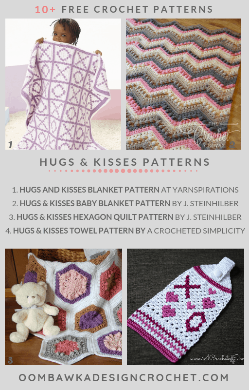 Free Hugs and Kisses Crochet Patterns Roundup Oombawka Design Free Pattern Friday