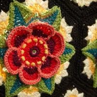 Fridas Flowers Blanket Pattern