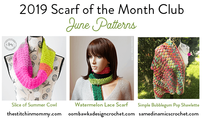 Scarf of the Month Club CAL June 2019