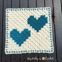 Two Hearts that Beat as One C2C Square Pattern