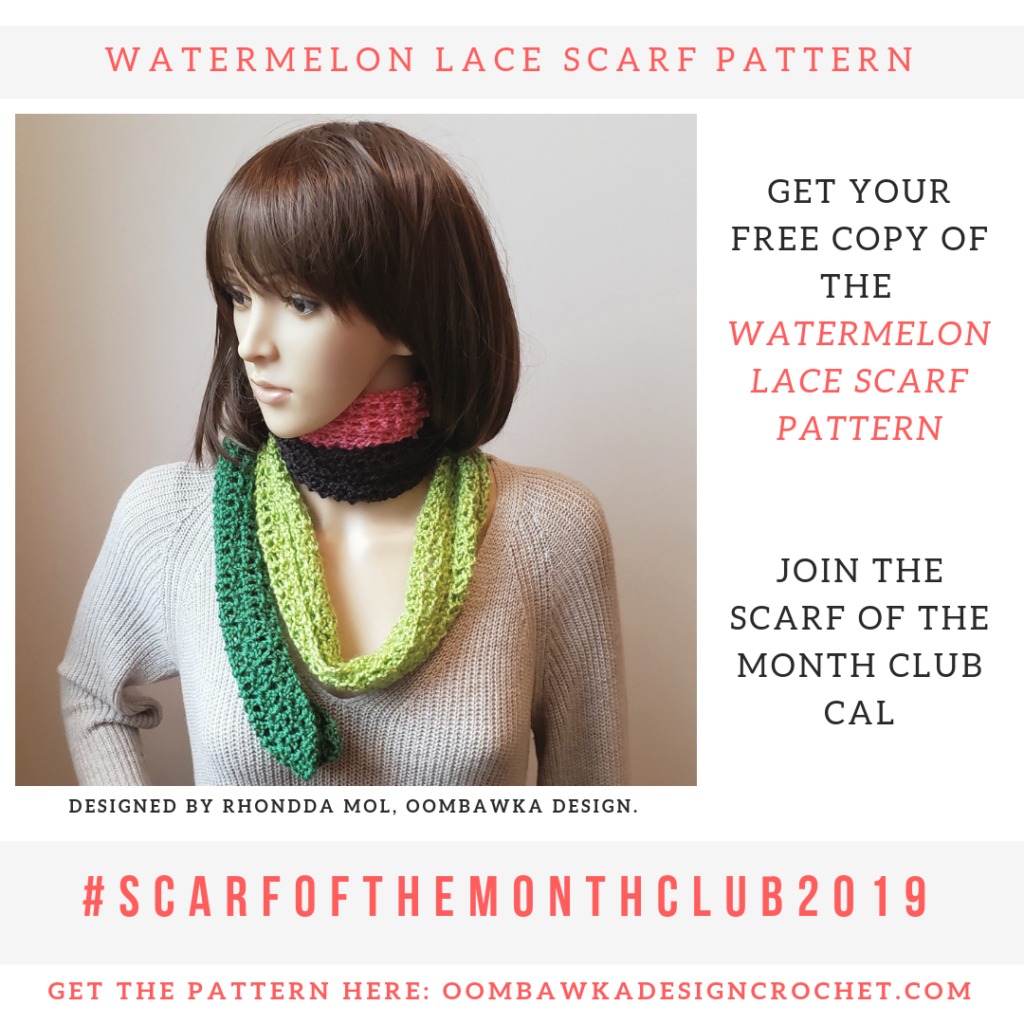 Watermelon Lace Scarf Pattern Scarfofthemonthclub2019 June Free Pattern