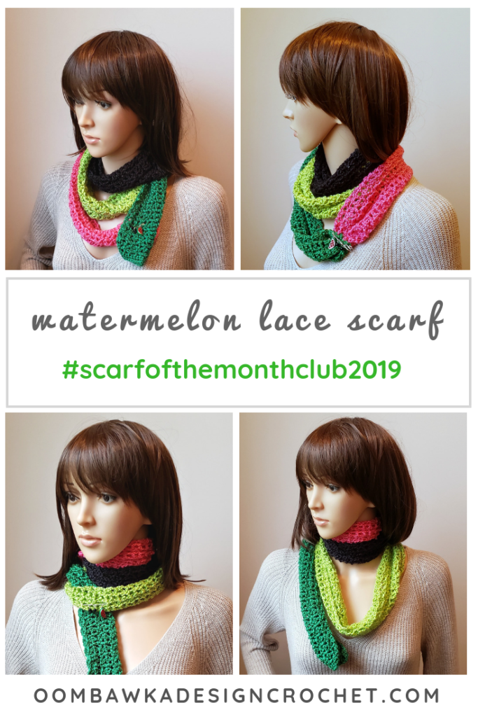 Watermelon Lace Scarf Pattern Scarfofthemonthclub2019 June Free Pattern 3