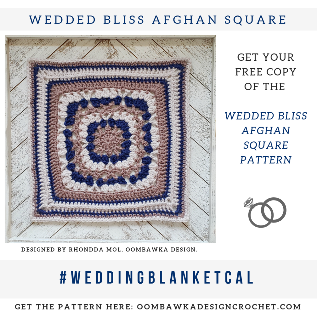 Wedded Bliss Afghan Square Pattern by Rhondda Mol Oombawka Design Crochet includes diagram 2