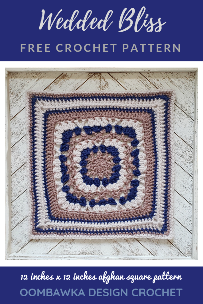 Wedded Bliss Afghan Square Pattern by Rhondda Mol Oombawka Design Crochet includes diagram