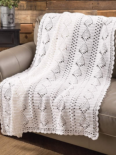 Pineapple Panels Throw All-Time Favorite Afghans by Annie's Craft Store - Review by Rhondda at Oombawka Design Crochet