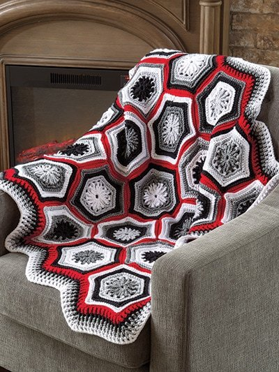 Winter's Eve Throw All-Time Favorite Afghans by Annie's Craft Store - Review by Rhondda at Oombawka Design Crochet