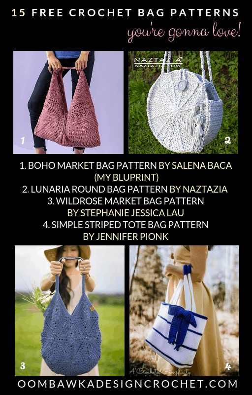 15 Crochet Bag patterns You Are Going to Love