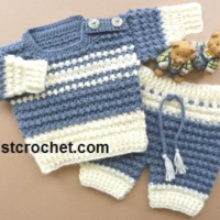 Boys Sweater and Pants Baby Crochet Pattern