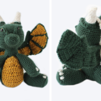 Featured at Wednesday Link Party 305. Free Crochet Dragon Pattern.