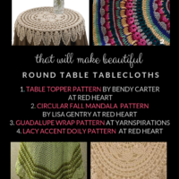 Free Crochet Patterns for Round Table Tablecloths