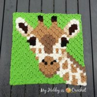 Giraffe C2C Square - Wildife Graphghan