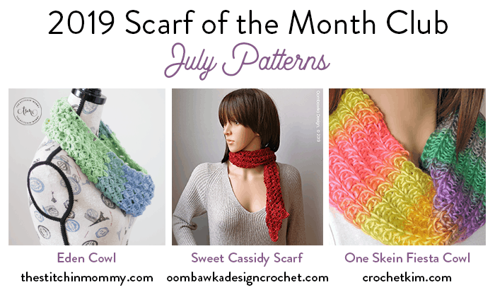 July Scarf of the Month Club 2019 CAL