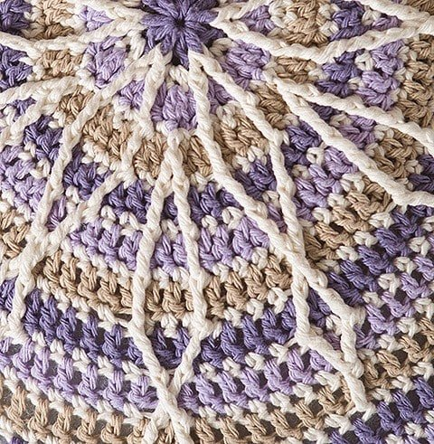 Pouf from Overlay Crochet Patterns. Leisure Arts. eBook Review by Oombawka Design Crochet