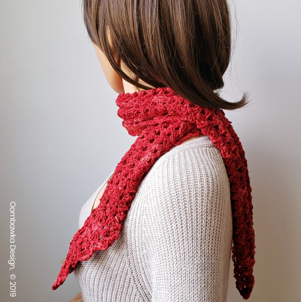 Sweet Cassidy Scarf Pattern July Scarf of the Month Club 2019