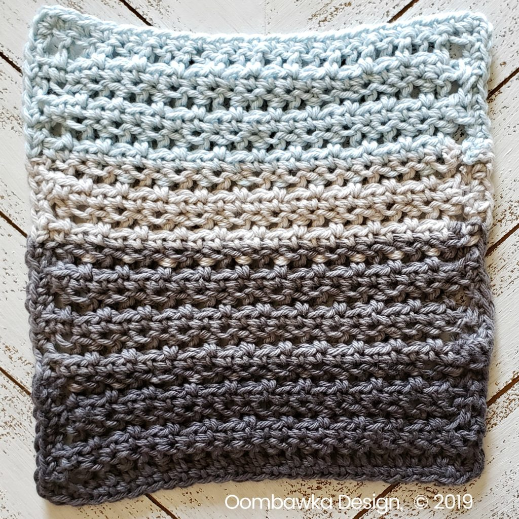Tranquil Washcloth Edging 1 Oombawka Design Crochet
