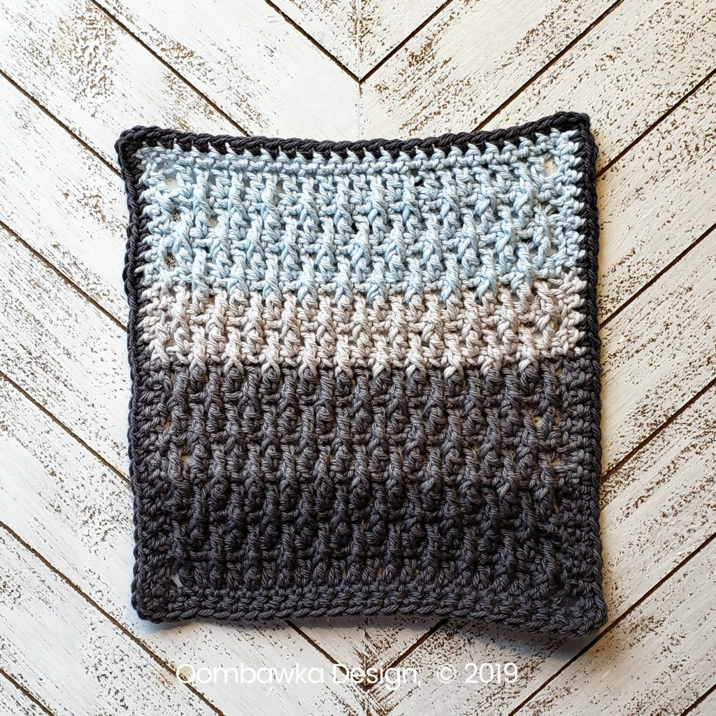Tranquil Washcloth Edging 2 Oombawka Design Crochet