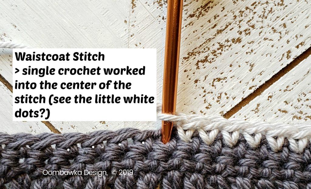 Tranquil Washcloth Edging 3 b Oombawka Design Crochet