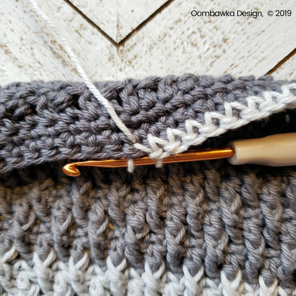 Tranquil Washcloth Edging 3 c Oombawka Design Crochet