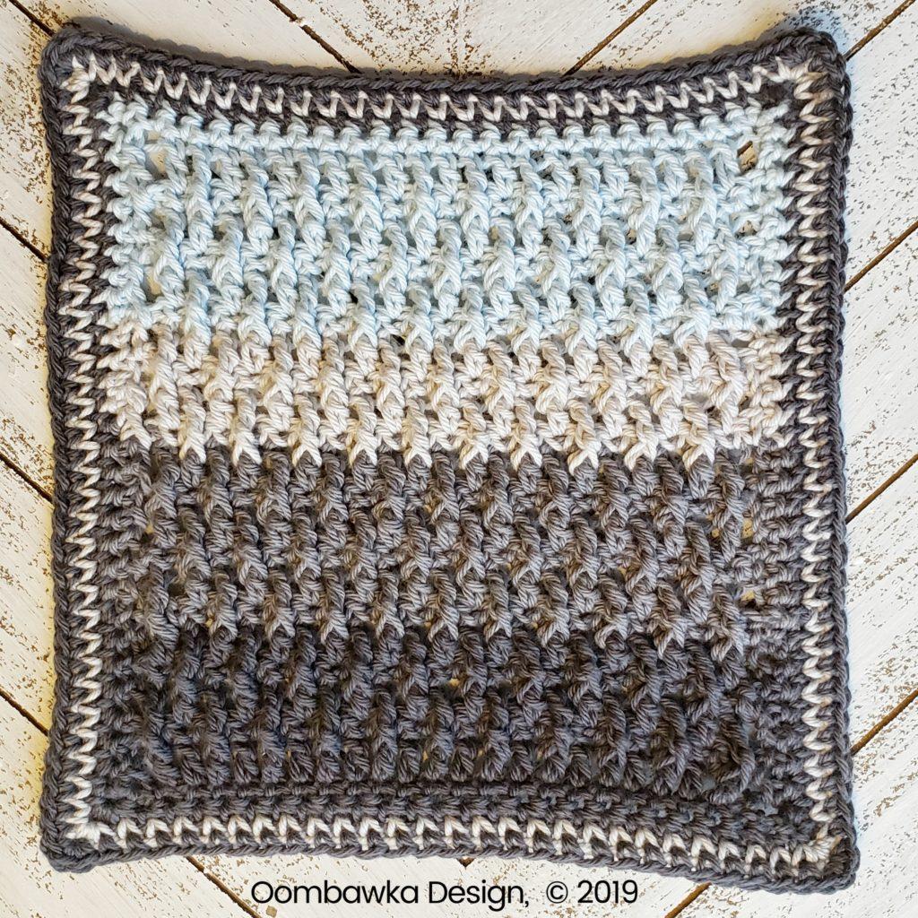 Tranquil Washcloth Edging 4 Oombawka Design Crochet