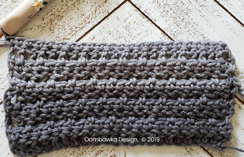 Tranquil Washcloth Row 10 Oombawka Design Crochet