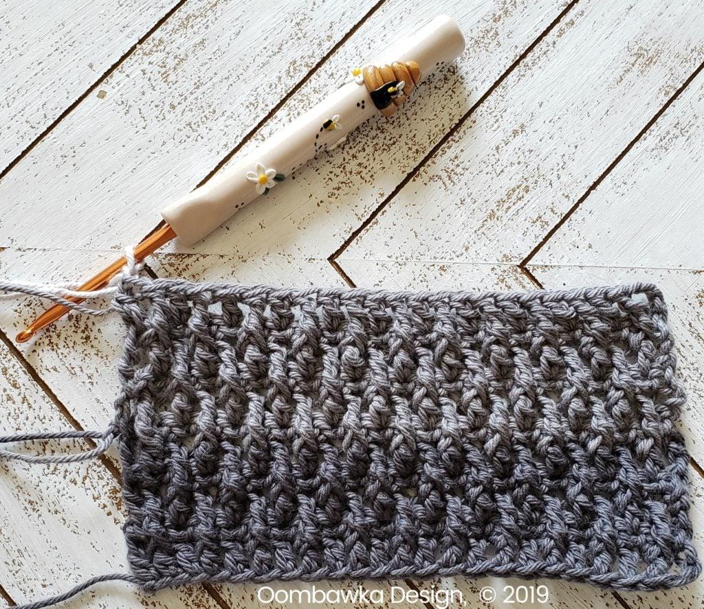 Tranquil Washcloth Row 11 Oombawka Design Crochet