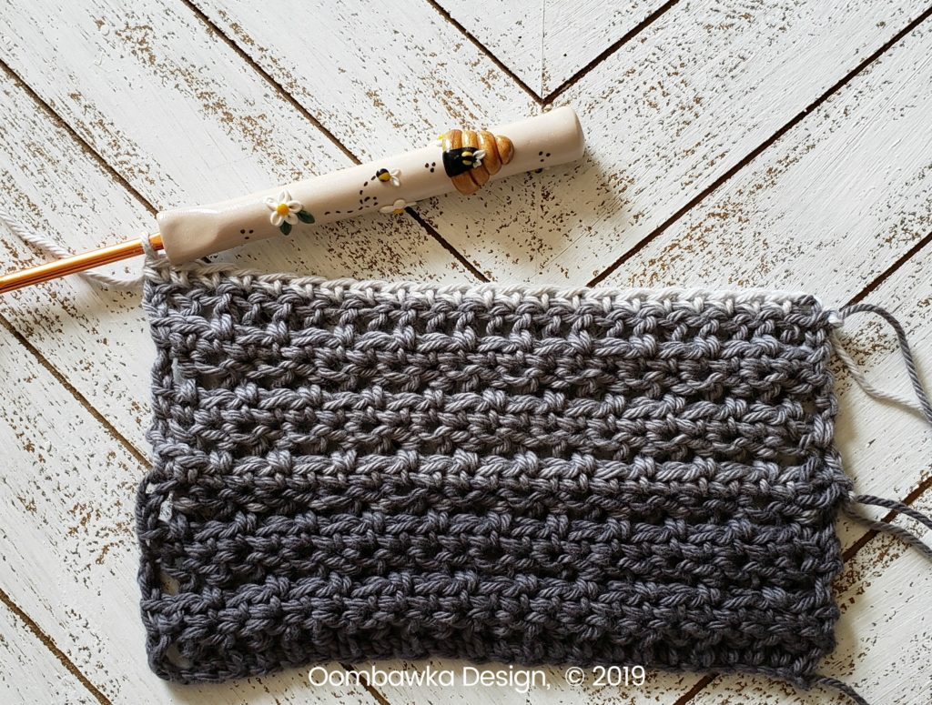 Tranquil Washcloth Row 12 Oombawka Design Crochet